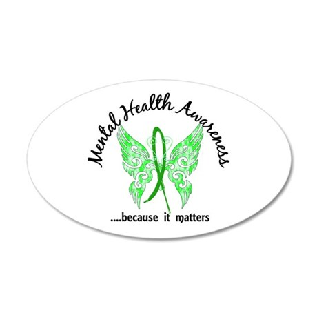 Mental Health Butterfly 6.1 20x12 Oval Wall Decal