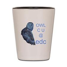 edc owl see you Shot Glass