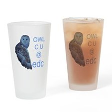 edc owl see you Drinking Glass