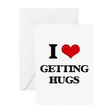 getting hugs Greeting Cards