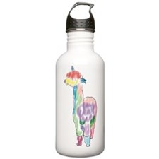 handpainted alpaca Water Bottle