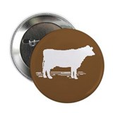 Cow Silhouette Button