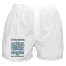 EMS Miranda Rights Boxer Shorts