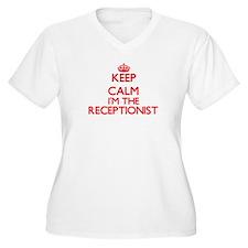 Keep calm I'm the Receptionist Plus Size T-Shirt