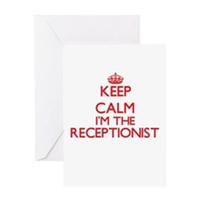 Keep calm I'm the Receptionist Greeting Cards