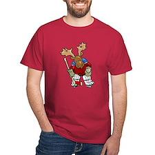 Moose Playing Hockey T-Shirt