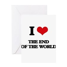 the end of the world Greeting Cards