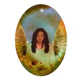Angel : Oval Ornament