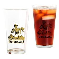 Futurama Bender Fry Drinking Glass
