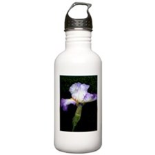 Purple iris, art, photo Water Bottle