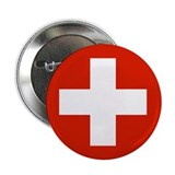 "Swiss Flag 2.25"" Button (100 pack)"