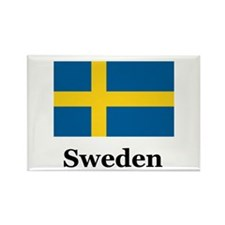 Swedish Heritage Sweden Rectangle Magnet (100 pack