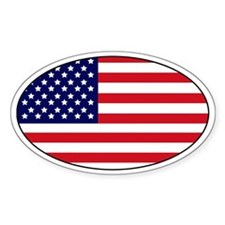 USA stickers Oval Decal