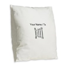 Custom Wrench Set Burlap Throw Pillow