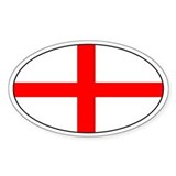 England flag Oval Decal