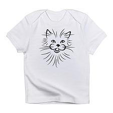 Long hair attack cat Infant T-Shirt