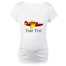 Personalizable Red and Yellow Airplane Shirt