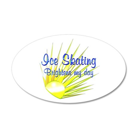 Ice Skating Brightens 20x12 Oval Wall Decal