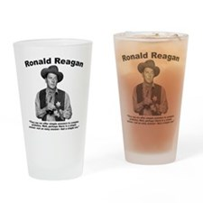 Reagan: Answers Drinking Glass