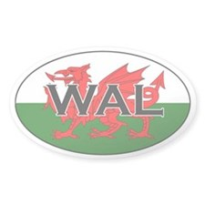 Welsh Flag Oval Decal