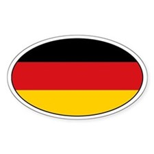 German flag with text Oval Decal