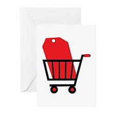 Shopping Cart Greeting Cards