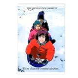 Sledding Fun Postcards (Package of 8)