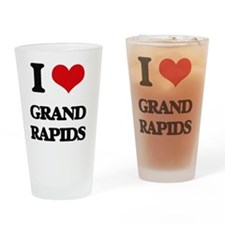 Unique I love grand rapids Drinking Glass