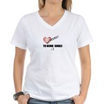 CHEERS TO BEING SINGLE Women's V-Neck T-Shirt