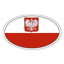 Polish flag Oval Stickers