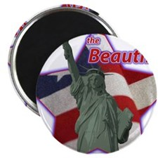 american the beautiful Magnet