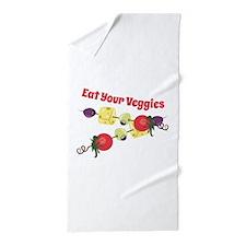 Eat Your Veggies Beach Towel