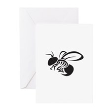 TRIBAL YELLOW JACKET Greeting Cards
