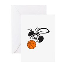 YELLOW JACKET BASKETBALL Greeting Cards