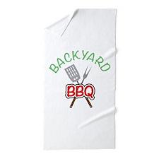 Backyard BBQ Beach Towel