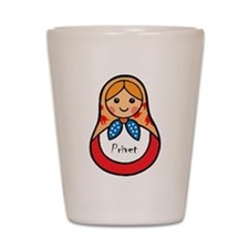 Matryoshka Russian Wooden Doll Shot Glass