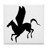 Pegasus Silhouette Tile Coaster