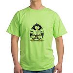 Martial Arts brown belt pengu Green T-Shirt