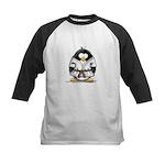 Martial Arts brown belt pengu Kids Baseball Jersey