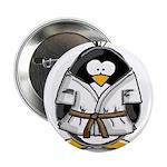 Martial Arts brown belt pengu Button
