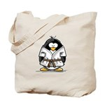 Martial Arts brown belt pengu Tote Bag