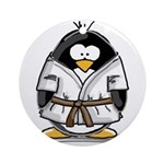 Martial Arts brown belt pengu Ornament (Round)