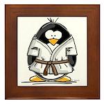 Martial Arts brown belt pengu Framed Tile