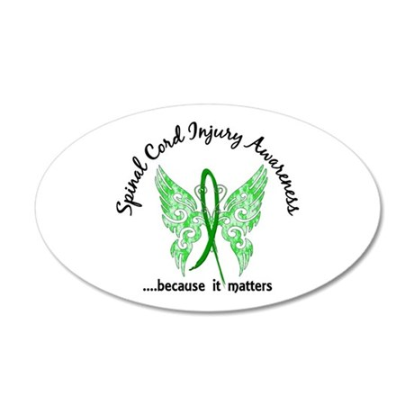 Spinal Cord Injury Butterfly 20x12 Oval Wall Decal