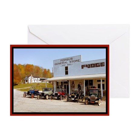 Country Store Antique Car Greeting Cards (Pk of 10