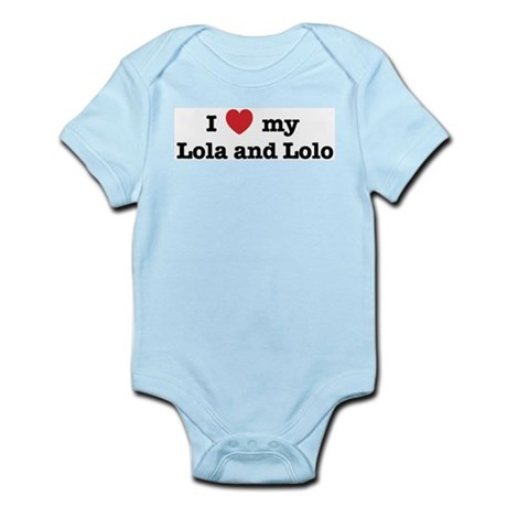 I Love my Lola and Lolo Infant Creeper