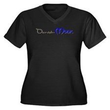 Dervish-Monk Women's Plus Size V-Neck Dark T-Shirt