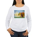 Regatta / Red Doberman Women's Long Sleeve T-Shirt