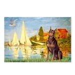 Regatta / Red Doberman Postcards (Package of 8)