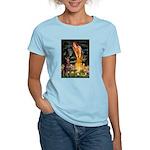 Fairies & Red Doberman Women's Light T-Shirt